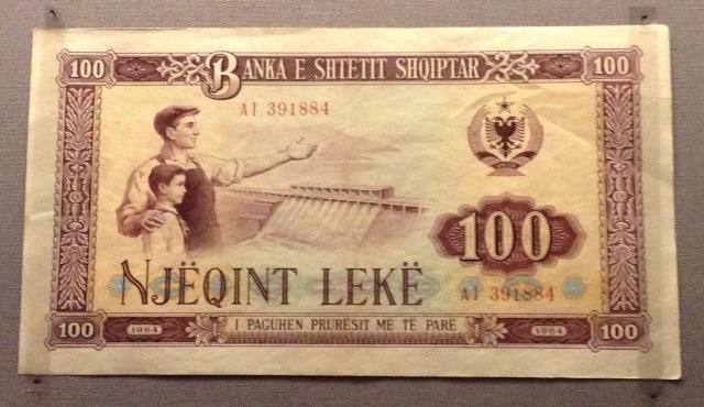 albania banknote dam